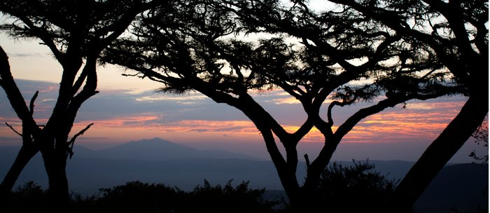 sunset over Ngorongoro Crater, Tanzania, Africa Coffee Mug