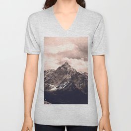 Pink Mountain Unisex V-Neck