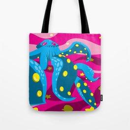 Asymmetrical Horror Tote Bag