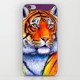 Colorful Bengal Tiger Portrait iPhone Skin