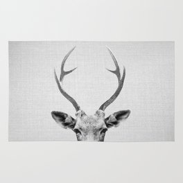 Deer - Black & White Rug