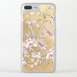 Chinoiserie Gold Clear iPhone Case