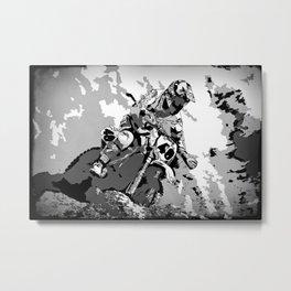 Motocross Dirt-Bike Championship Racer Metal Print