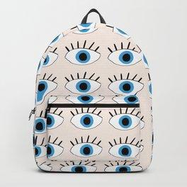 Blue evil eye Backpack
