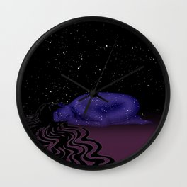 Nuit, The Lady of the Stars Wall Clock