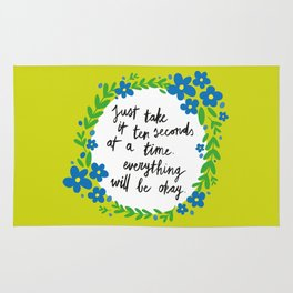 Ten Seconds - Lime Rug