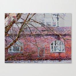Brick Exterior with Lights Canvas Print