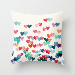 Heart Connections - watercolor painting Throw Pillow
