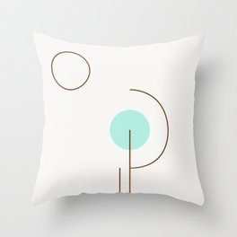 Balm 03 // ABSTRACT GEOMETRY MINIMALIST ILLUSTRATION Throw Pillow