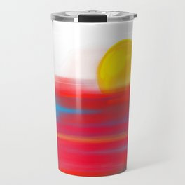 Sketchy Sun and Sea. Sunset and Sunrise Sketch Travel Mug