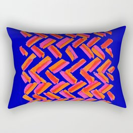 Abstract Primary Brushstrokes Rectangular Pillow