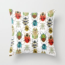Beetle Compilation Throw Pillow