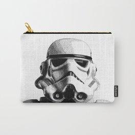 Stormtrooper Hand Drawn Dotwork - StarWars Pointillism Artwork Carry-All Pouch
