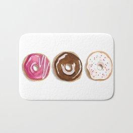 Donuts in watercolor Bath Mat