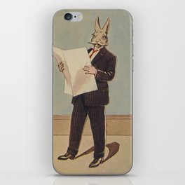 Deacon Bunny Illustration by Culmer Barnes in The Bunnys at Home In A Suit - 1915 iPhone Skin