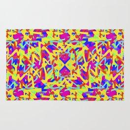 Multicolored Linear Pattern Design Rug