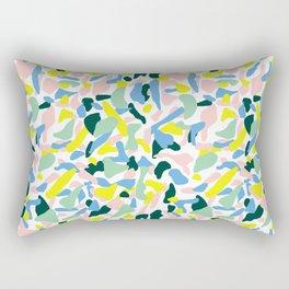 Postmodern Painting in Nile Pastel Rectangular Pillow