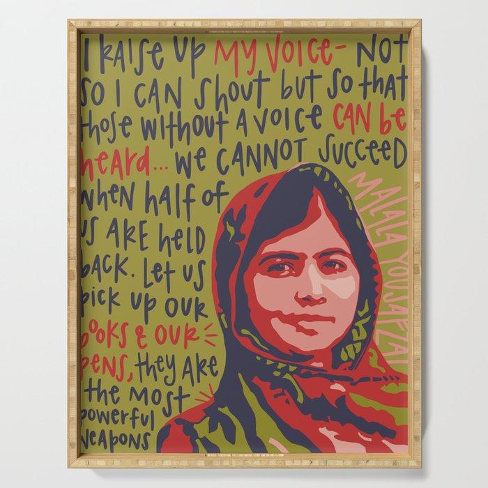 Malala Yousafzai. Serving Tray