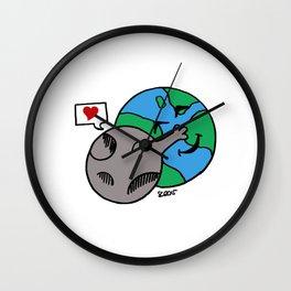 Love Earth Wall Clock