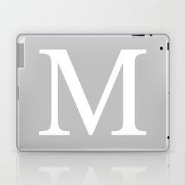 Silver Gray Basic Monogram M Laptop & iPad Skin