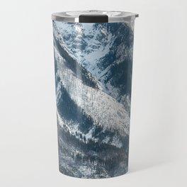 snow capped mountains Travel Mug