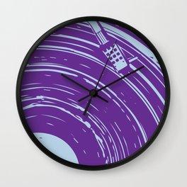 vinyl purple Wall Clock