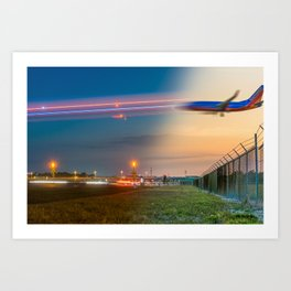 Time Traveling Machine Art Print