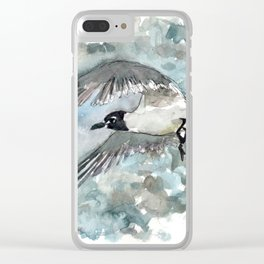 Seagull in Stormy Weather Clear iPhone Case