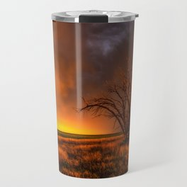 Fascinations - Warm Light and Rumbles of Thunder in Oklahoma Travel Mug