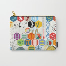 Math in color (white Background) Carry-All Pouch