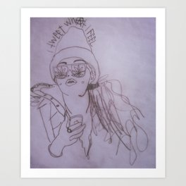 I tweet what I feel Art Print