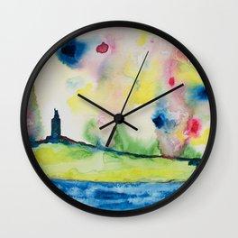 Torre de Hércules 2 Wall Clock