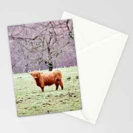 Highland Cow Stationery Cards