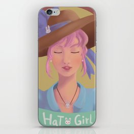 Hat Girl - Candy Color iPhone Skin