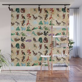 Mythical Creatures Pattern Wall Mural