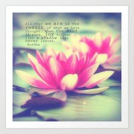 Lotus - Buddha Quote Art Print