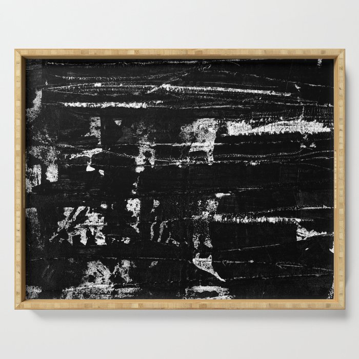 Distressed Grunge 102 in B&W Serving Tray