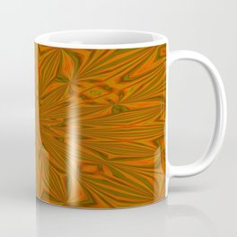 Autumnal Leaves Red Green and Amber Abstract Kaleidoscope Coffee Mug