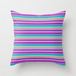 Stripes Colorul Mood Throw Pillow