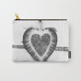 Black and White Stawberry Carry-All Pouch
