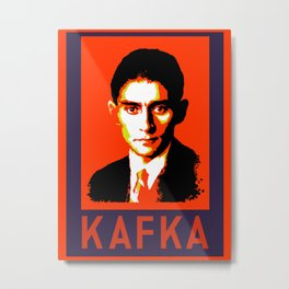 Authors of Note - Franz Kafka Metal Print