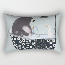 bath time Rectangular Pillow