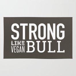 Strong Like Vegan Bull Rug