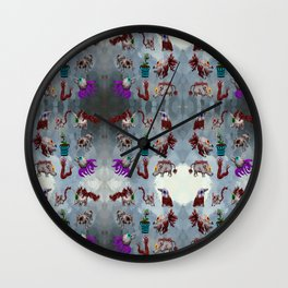 eyeball creatures Wall Clock