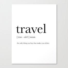 Travel Definition Canvas Print