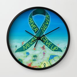 Kidney Disease Awareness, Never, Never, Never Give Up Wall Clock