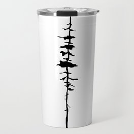 Thin Tree Silhouette Travel Mug