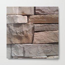 Artisan Masonry Stone House Front Detail 001 Metal Print