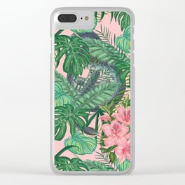 Serpents and Flowers Clear iPhone Case