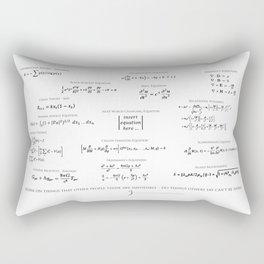 High-Math Inspiration 01 - Black Rectangular Pillow